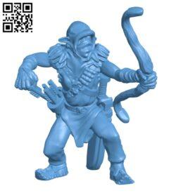Goblin Archer H000829 file stl free download 3D Model for CNC and 3d printer