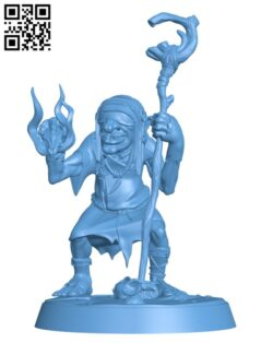 Goblin Shaman H000881 file stl free download 3D Model for CNC and 3d printer