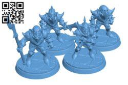 Goblin warrior bundle H000612 file stl free download 3D Model for CNC and 3d printer