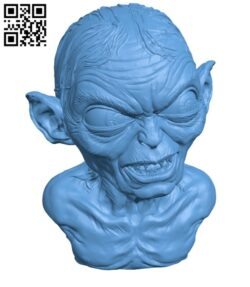Golum bust, from Lord Of The Rings H000588 file stl free download 3D Model for CNC and 3d printer