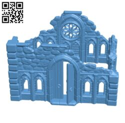 Gothic ruin H000763 file stl free download 3D Model for CNC and 3d printer