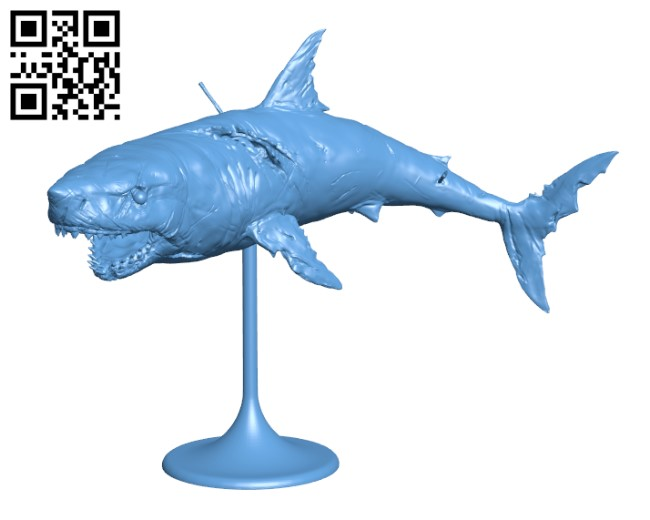 Great Wight Shark H000640 file stl free download 3D Model for CNC and 3d printer