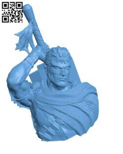 Guts, the Black swordsman bust H000911 file stl free download 3D Model for CNC and 3d printer