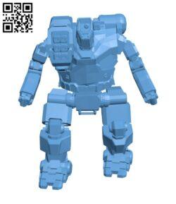 HBK-4P Hunchback for Battletech – Robot H000765 file stl free download 3D Model for CNC and 3d printer