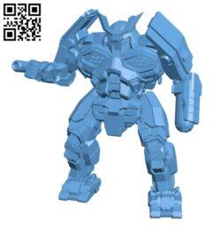HTM-27T Hatamoto-Chi for Battletech – Robot H000733 file stl free download 3D Model for CNC and 3d printer
