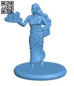 Half Elf Barmaid H000781 file stl free download 3D Model for CNC and 3d printer