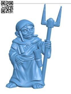 Halfling Wizard H000912 file stl free download 3D Model for CNC and 3d printer