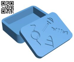 Halloween Card Box (Candy) H001216 file stl free download 3D Model for CNC and 3d printer