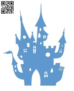 Halloween Castle Silhouette H001101 file stl free download 3D Model for CNC and 3d printer