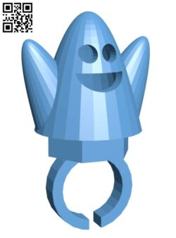 Halloween Ghost Ring H001043 file stl free download 3D Model for CNC and 3d printer