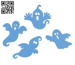 Halloween Ghost Silhouettes H001104 file stl free download 3D Model for CNC and 3d printer