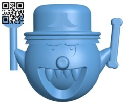 Halloween Ghost gostee H000985 file stl free download 3D Model for CNC and 3d printer