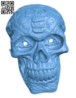 Halloween LED Eyes Skull H001110 file stl free download 3D Model for CNC and 3d printer
