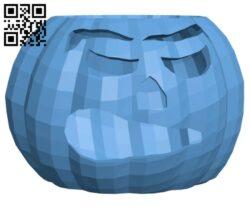 Halloween Pumpkin – Candle Holder H001160 file stl free download 3D Model for CNC and 3d printer