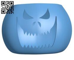 Halloween Pumpkin H000992 file stl free download 3D Model for CNC and 3d printer
