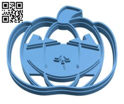 Halloween Pumpkin cookie cutter H001047 file stl free download 3D Model for CNC and 3d printer
