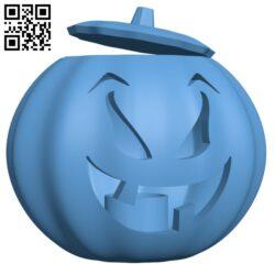 Halloween Pumpkin with tea light holder H001230 file stl free download 3D Model for CNC and 3d printer