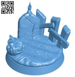 Halloween base H000732 file stl free download 3D Model for CNC and 3d printer