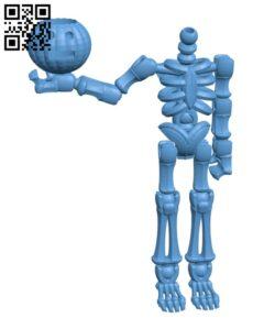 Halloween skeleton H001113 file stl free download 3D Model for CNC and 3d printer