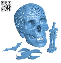 Halloween skull lamps H000503 file stl free download 3D Model for CNC and 3d printer