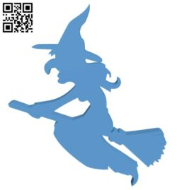 Halloween witch H000996 file stl free download 3D Model for CNC and 3d printer