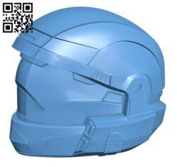 Halo 3 ODST helmet Wearable H000589 file stl free download 3D Model for CNC and 3d printer