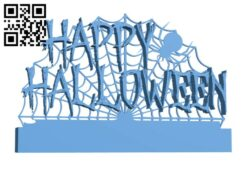 Happy Halloween H000999 file stl free download 3D Model for CNC and 3d printer