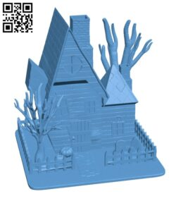 Haunted House – Halloween H000939 file stl free download 3D Model for CNC and 3d printer