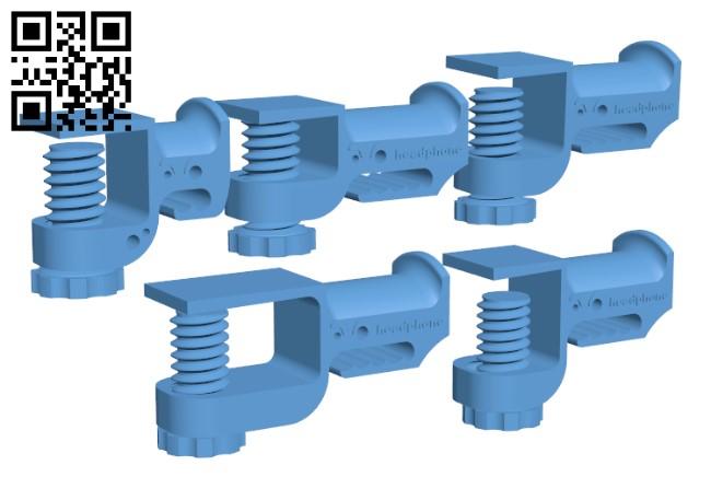 Headphone Holder H000854 file stl free download 3D Model for CNC and 3d printer