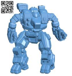 Hellbringer Prime, AKA Loki for Battletech – Robot H000590 file stl free download 3D Model for CNC and 3d printer
