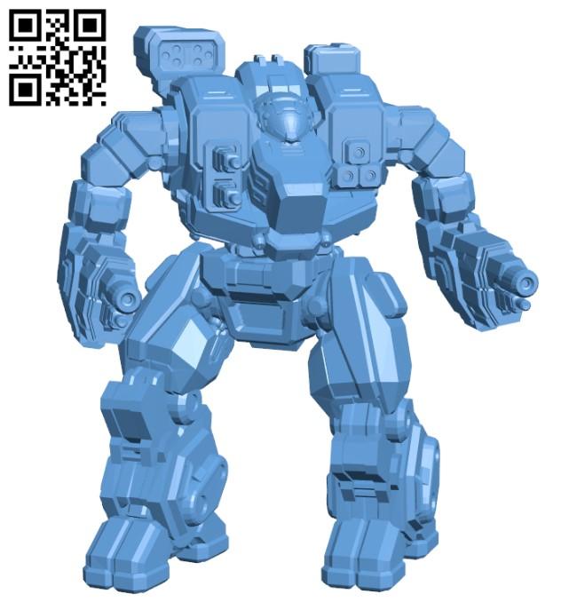 Hellbringer Prime, AKA Loki for Battletech - Robot H000590 file stl free download 3D Model for CNC and 3d printer