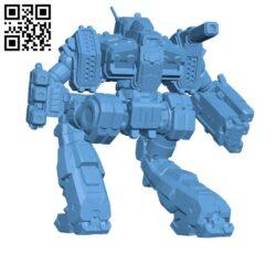 Hellfire Prime for Battletech – Robot H000614 file stl free download 3D Model for CNC and 3d printer
