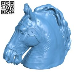 Horse Head of Marcus Aurelius H000563 file stl free download 3D Model for CNC and 3d printer