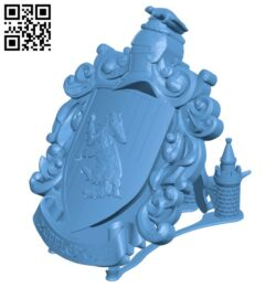 Hufflepuff Coat of Arms Wall – Harry Potter H000913 file stl free download 3D Model for CNC and 3d printer