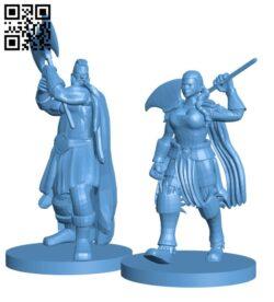 Human Barbarian H000882 file stl free download 3D Model for CNC and 3d printer