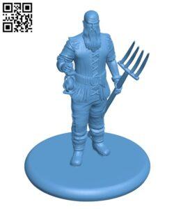 Human Farmer H000530 file stl free download 3D Model for CNC and 3d printer
