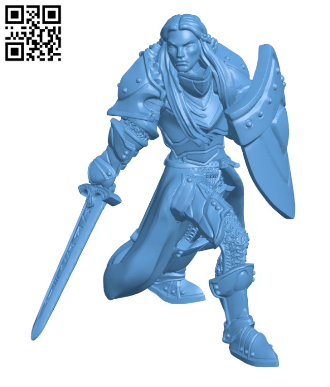 Human Female Paladin H000505 file stl free download 3D Model for CNC and 3d printer