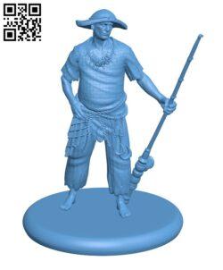 Human Fisherman H000531 file stl free download 3D Model for CNC and 3d printer