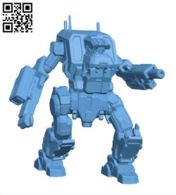 Ice Ferret Prime, AKA Fenris for Battletech – Robot H000857 file stl free download 3D Model for CNC and 3d printer