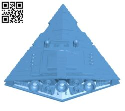 Imperial Star Destroyer Class II H000734 file stl free download 3D Model for CNC and 3d printer