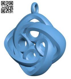 Interlocking Celtic Necklace Pendant H000784 file stl free download 3D Model for CNC and 3d printer