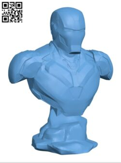Iron man mark 85 Bust H000915 file stl free download 3D Model for CNC and 3d printer