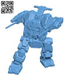 JM6-DB Jagermech Firebrand for Battletech – Robot H000618 file stl free download 3D Model for CNC and 3d printer