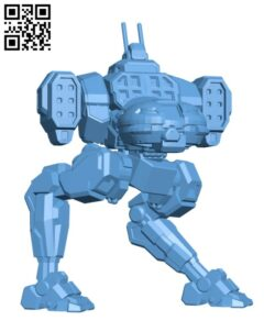 JR7-IIC Jenner for Battletech – Robot H000832 file stl free download 3D Model for CNC and 3d printer