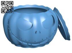 Jack Skellington Pumpkin – Halloween H000943 file stl free download 3D Model for CNC and 3d printer