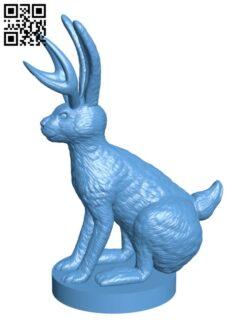 Jackalope and Regular Jack Rabbits H000945 file stl free download 3D Model for CNC and 3d printer