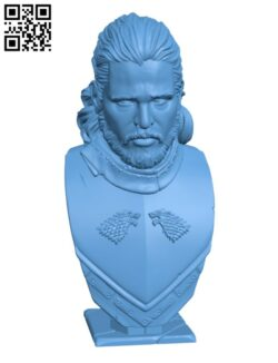 Jon Snow bust H000705 file stl free download 3D Model for CNC and 3d printer