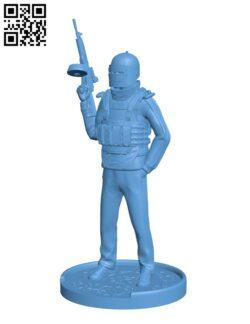 Killa – Gunner H000833 file stl free download 3D Model for CNC and 3d printer