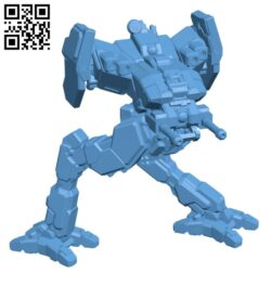 LCT-PB Locust (Pirate's Bane) for Battletech – Robot H000619 file stl free download 3D Model for CNC and 3d printer