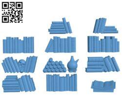 Legend Games – Arcane books H000533 file stl free download 3D Model for CNC and 3d printer